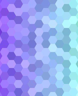 Abstract hexagonal tile mosaic background design