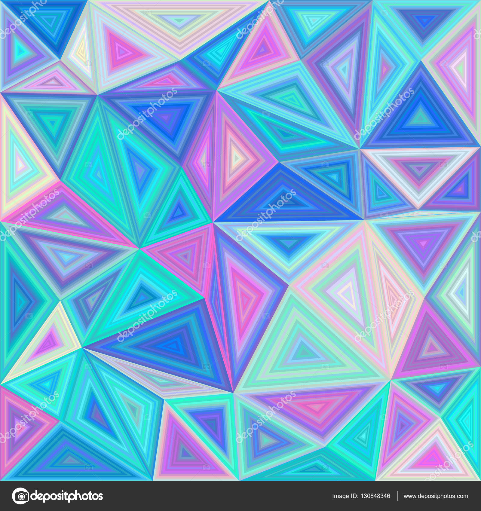 Colorful triangle tile mosaic background — Stock Vector © davidzydd ...