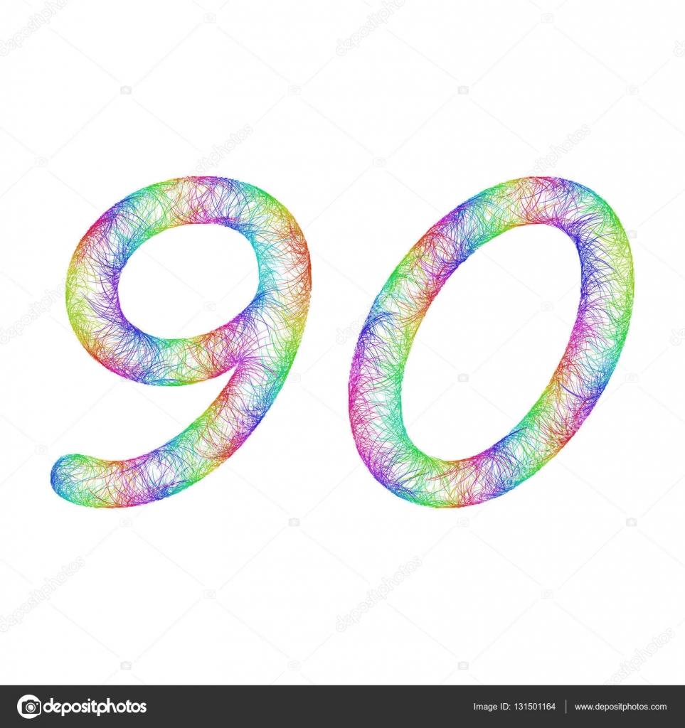 Disegno del rainbow schizzo anniversario numero 90 for Blueprint number