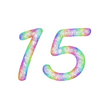 Rainbow sketch anniversary design - number 15