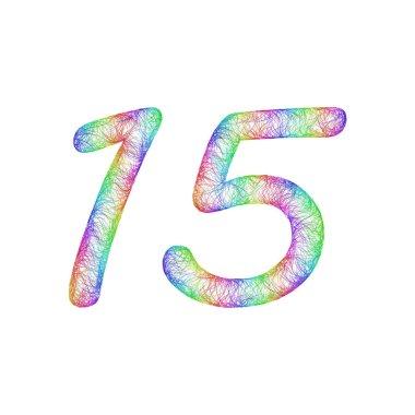 Rainbow sketch anniversary design - number 15