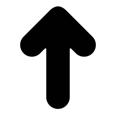 Minimalistic black rounded arrow icon template