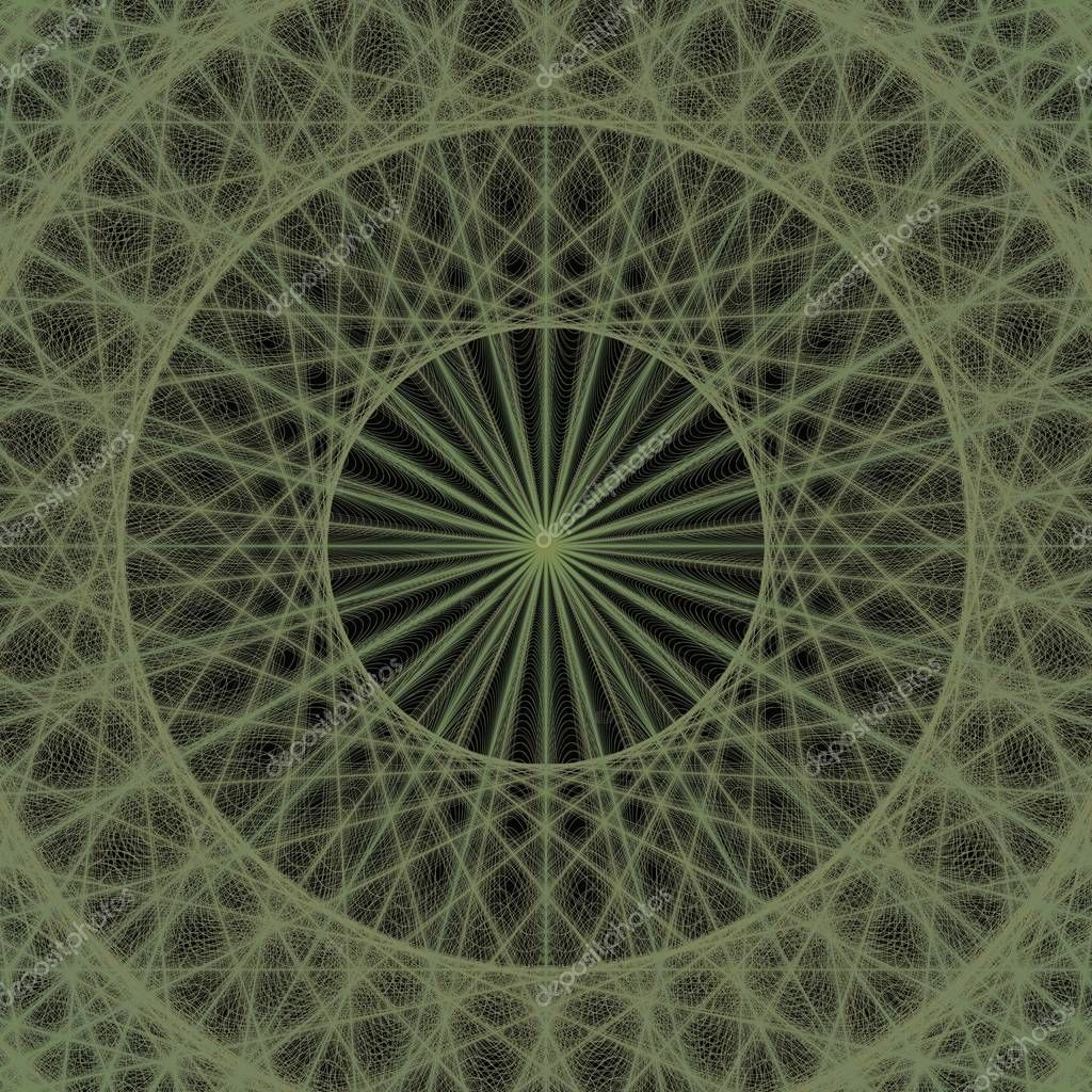 Green computer generated fractal background design