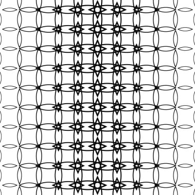 Geometric black and white pattern background