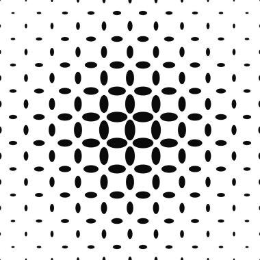 Black and white ellipse pattern background