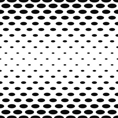 Abstract black and white ellipse pattern