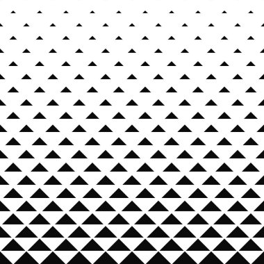 Abstract monochrome triangle pattern background