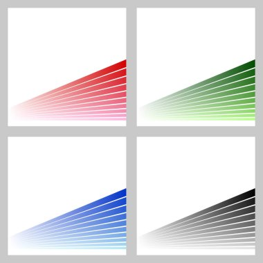 Simple abstract stripe background set