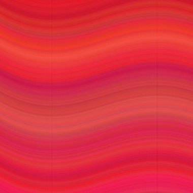 Red smooth wave background - vector illustration
