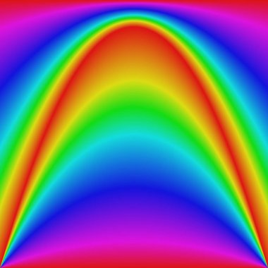 Smooth gradient rainbow wave curve background