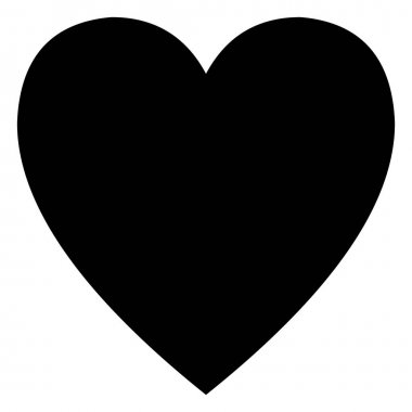 Minimalistic black heart icon template on white background clip art vector