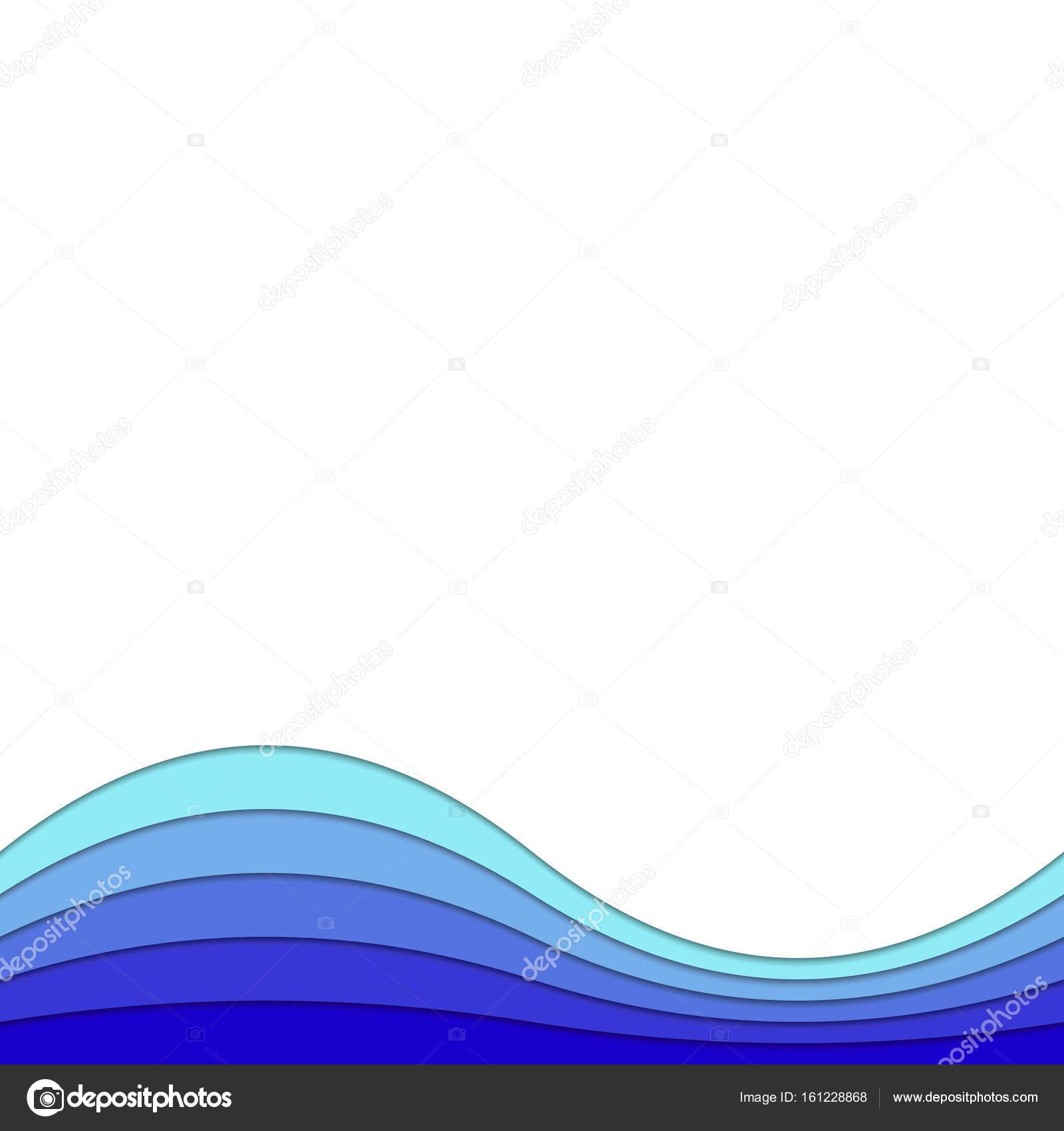Plantilla de fondo de curvas capas en tonos azules - gráfico de ...