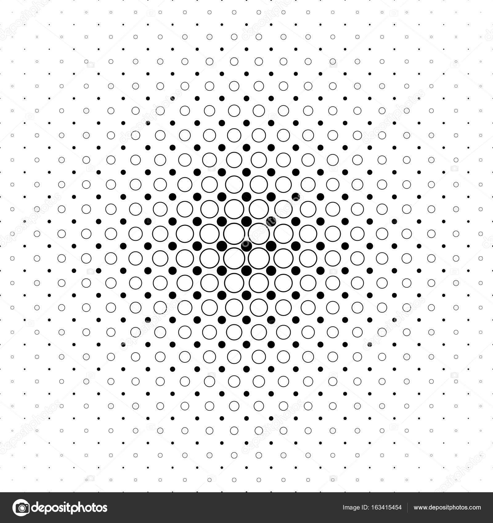 Schwarz / weiß-Kreis-Muster - abstrakten geometrischen Vektor ...