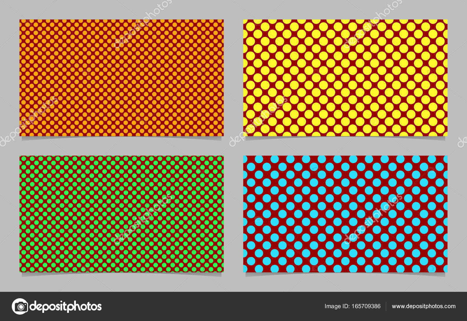 Modern abstract polka dot business card background set - vector ...