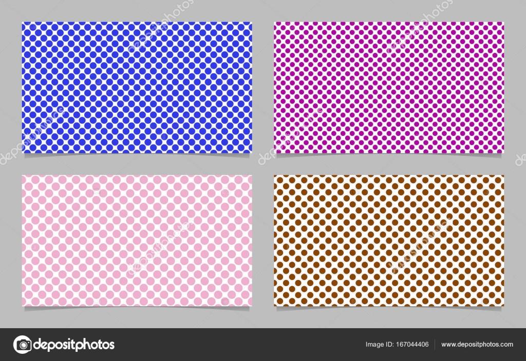 Dot Pattern Business Card Background Template Set