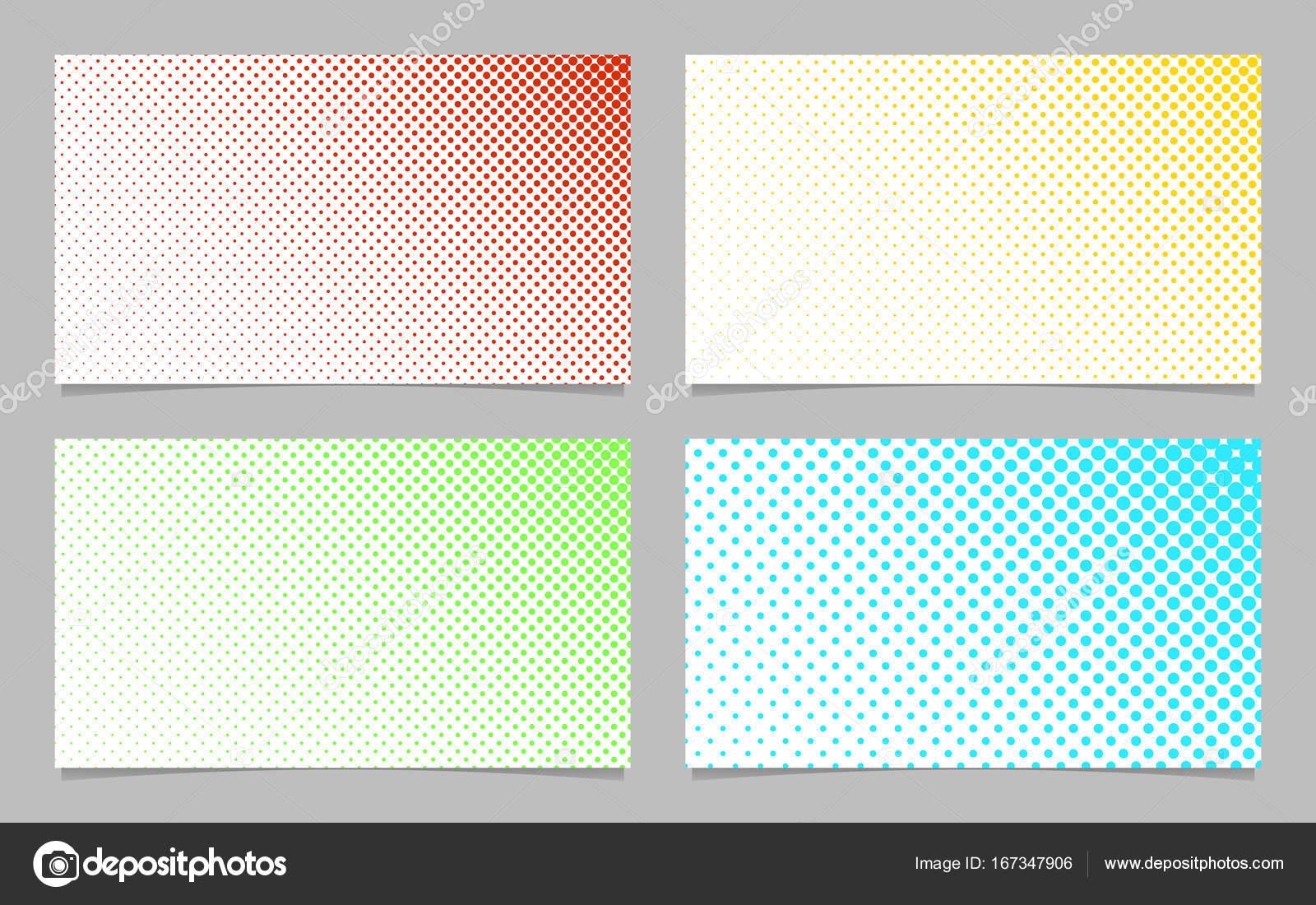 Digitaler Halbton Dot Muster Visitenkarte Vorlage