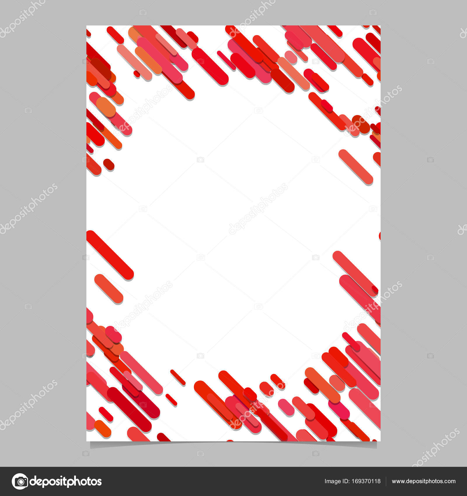 abstract rounded diagonal stripe pattern brochure template blank
