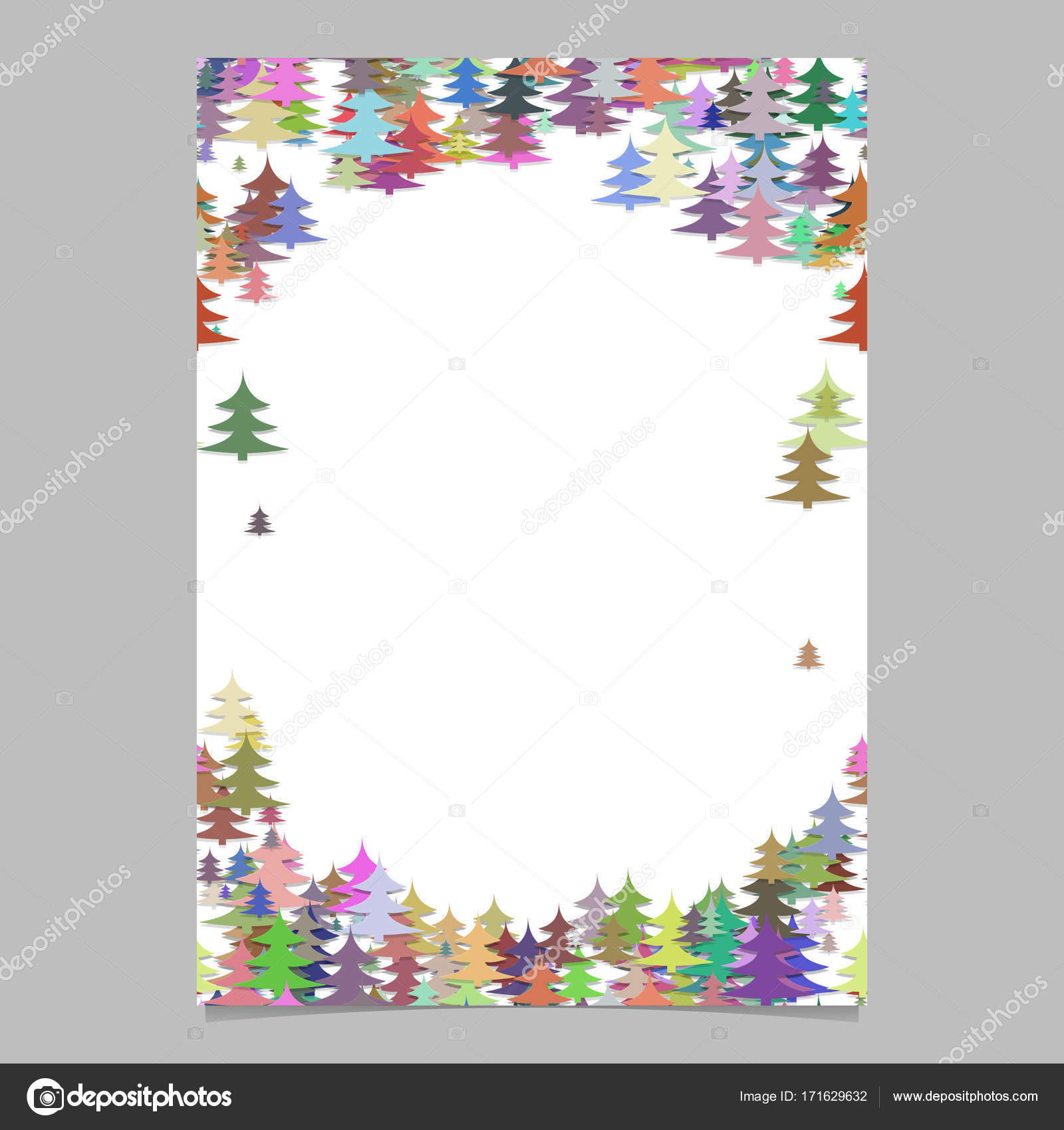 modern colorful christmas design stationery template blank winter