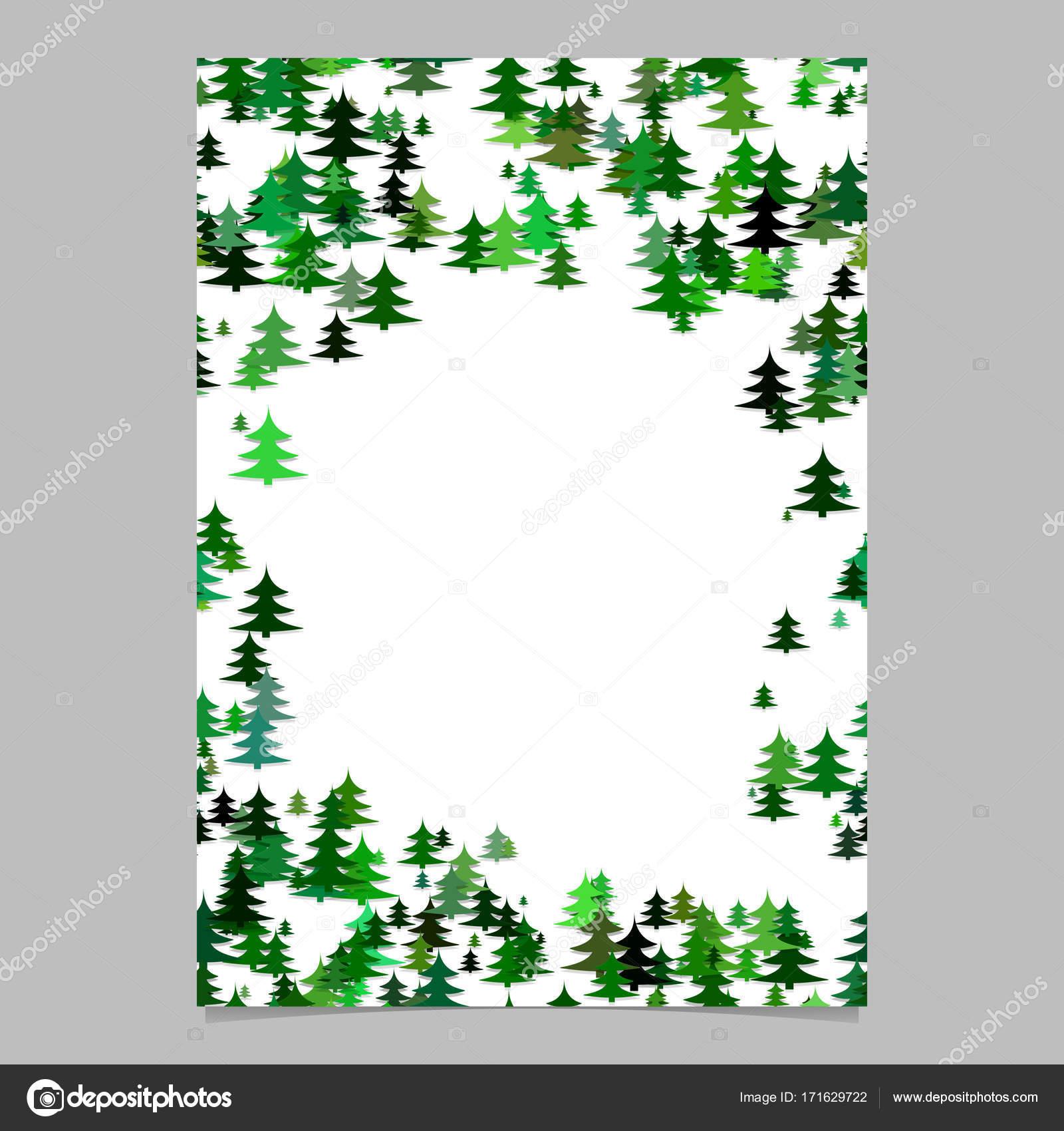 Plantilla de brochure diseño abstracto al azar pino estacional árbol ...