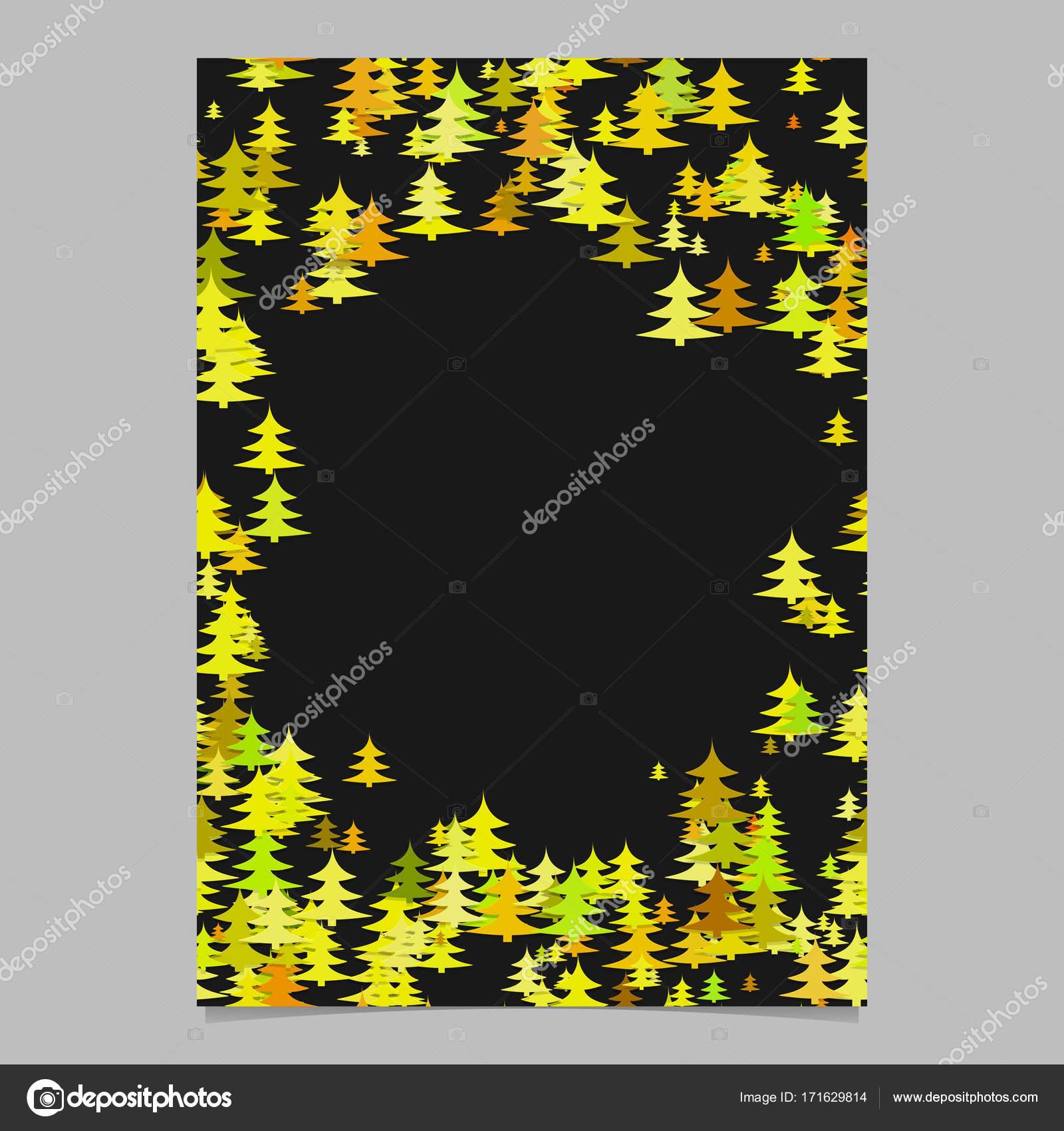 Farbe zufällig Weihnachten Kiefer Baum Flyer Vorlage - leere Winter ...