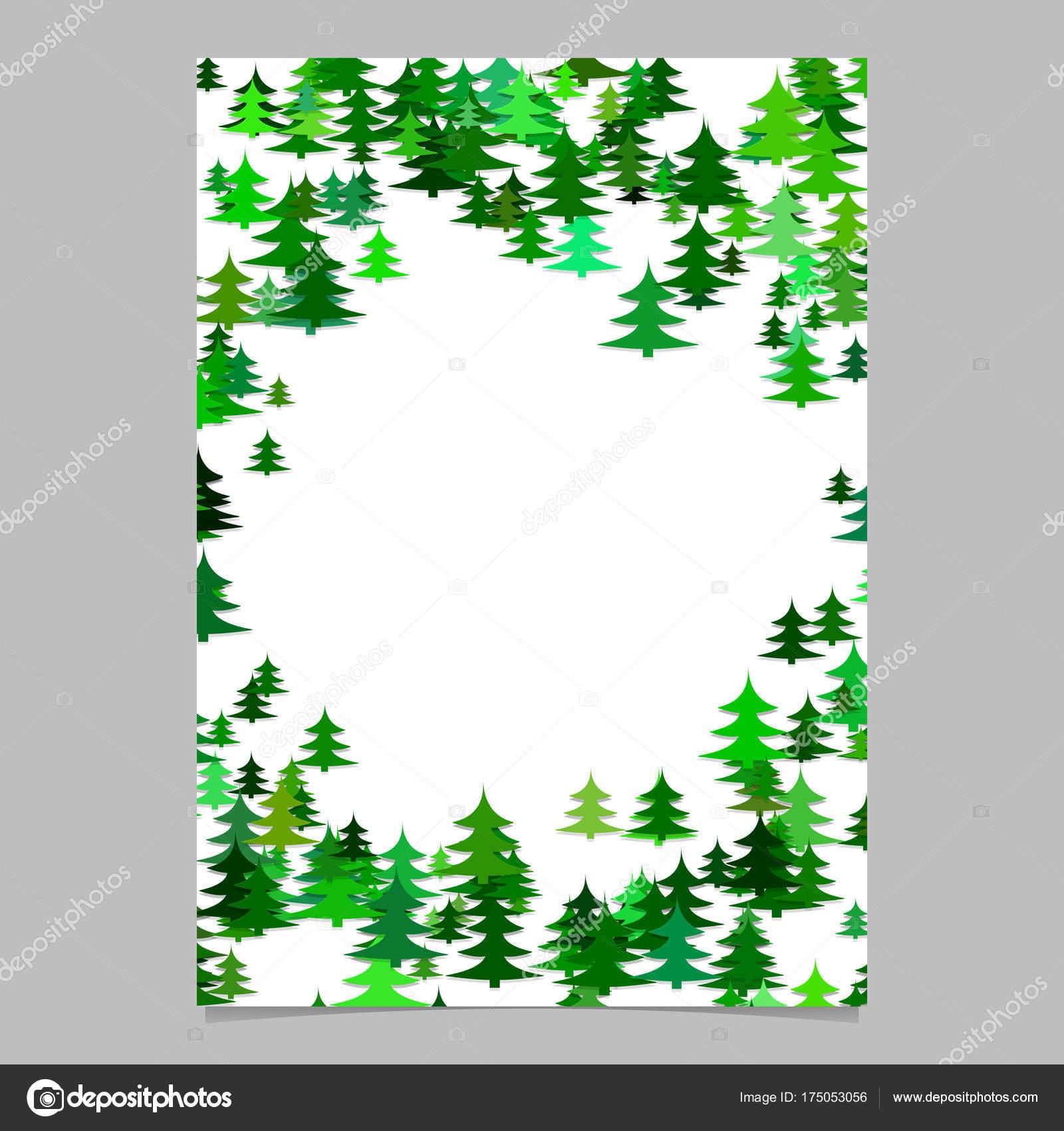Plantilla de pino estacional aleatorio abstracto árbol diseño ...