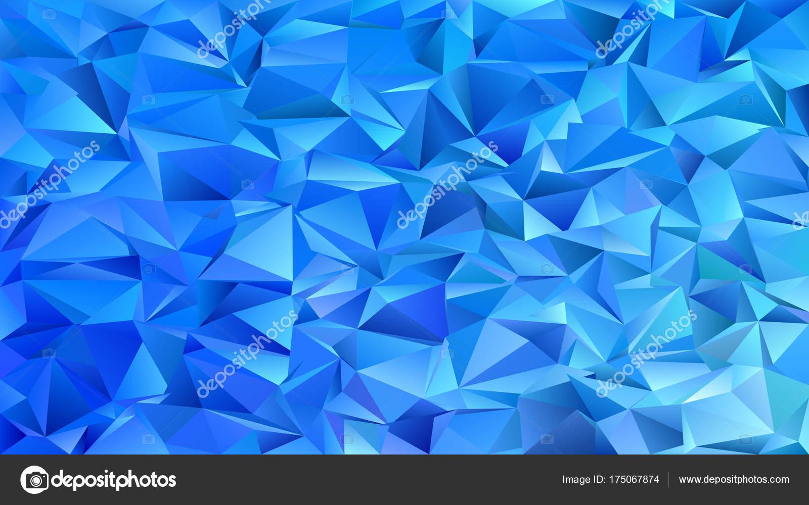 üçgen çini Mozaik Arka Plan üçgen Mavi Tonlarda Vektör Grafik