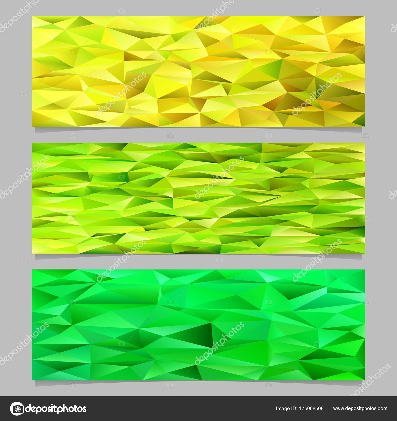 Low Poly Dreieck Fliesen Mosaik Banner Vorlage Formularsatz