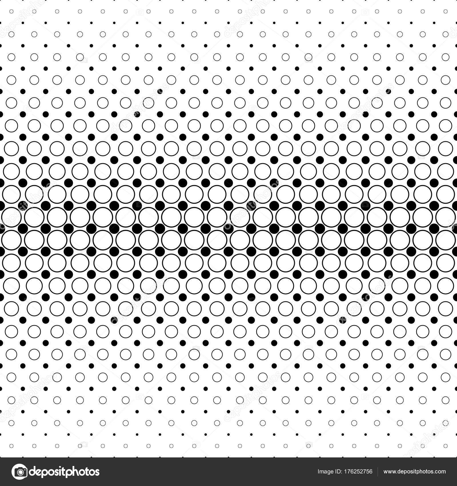 Schwarz / weiß-Kreis-Muster - geometrischen Hintergrund-Grafik ...