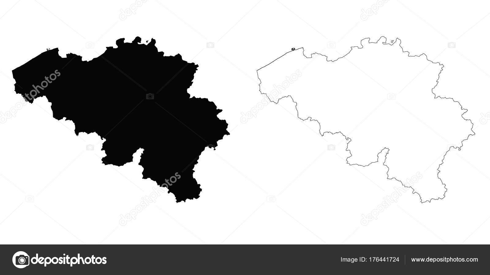 Belgien Karte Umriss.Belgien Umriß Stockvektor Davidzydd 176441724