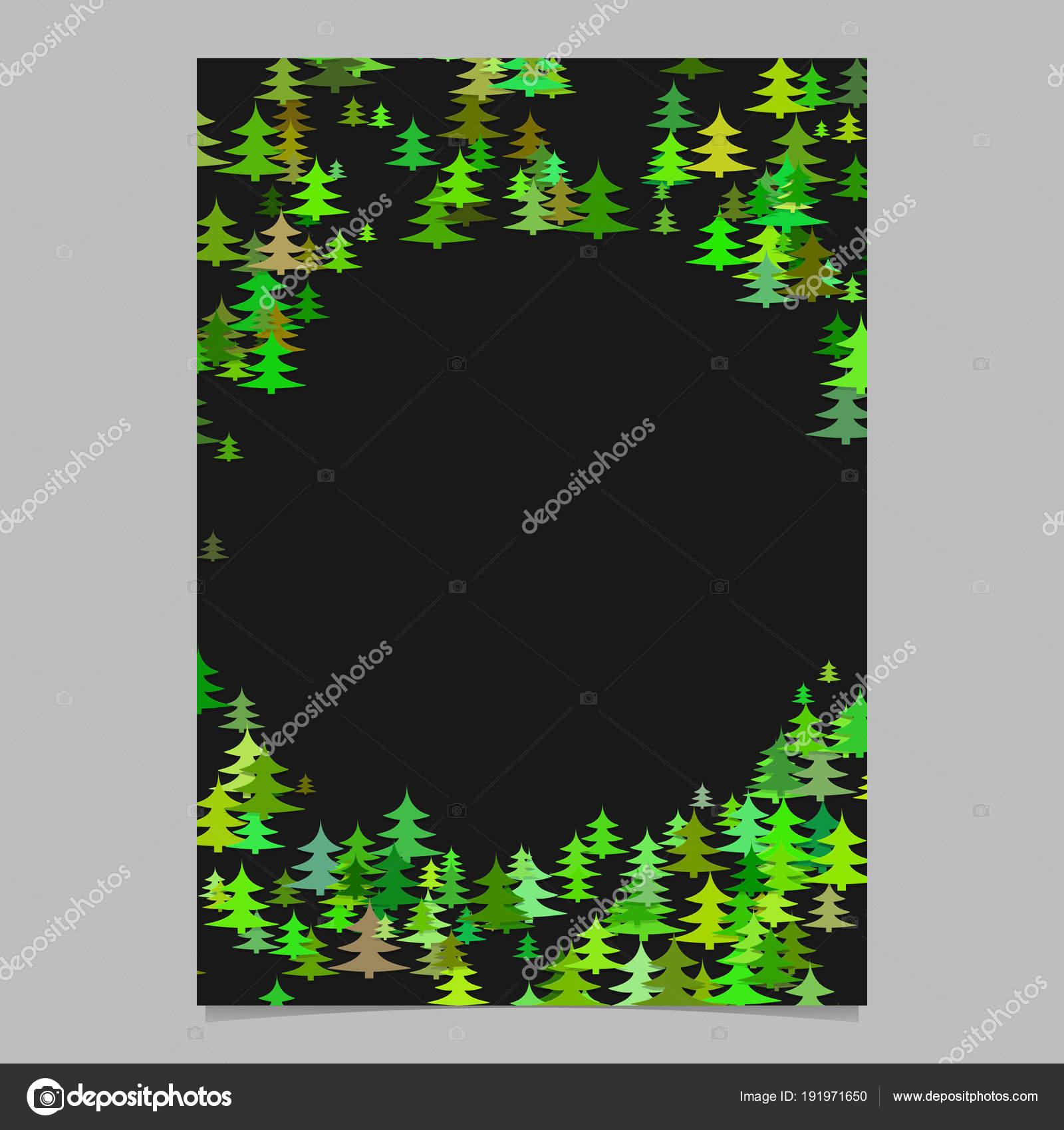 Plantilla de folleto de diseño de árbol pino estacional al azar ...