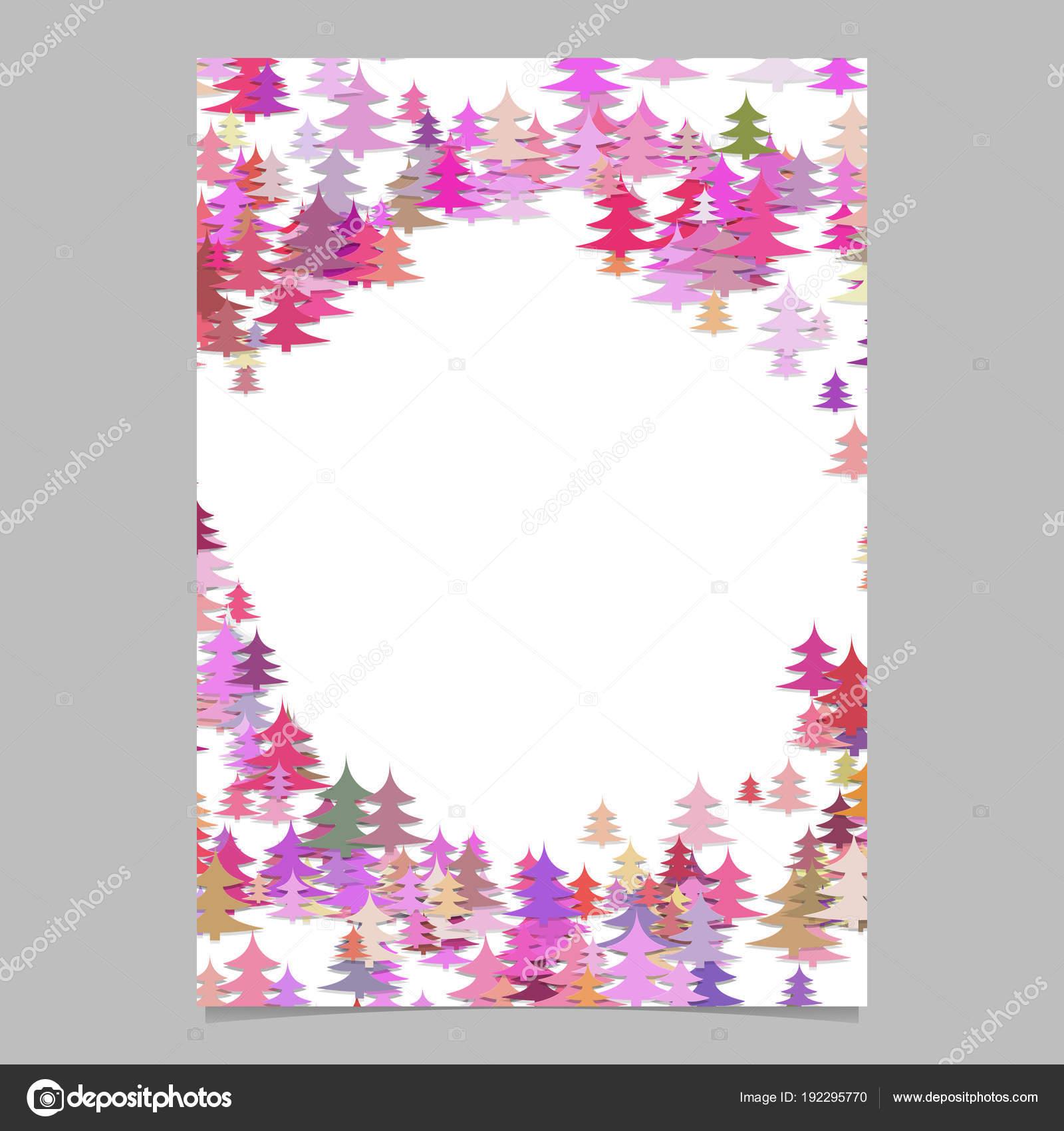 Plantilla flyer de Navidad pino árbol - gráfico de vector en blanco ...