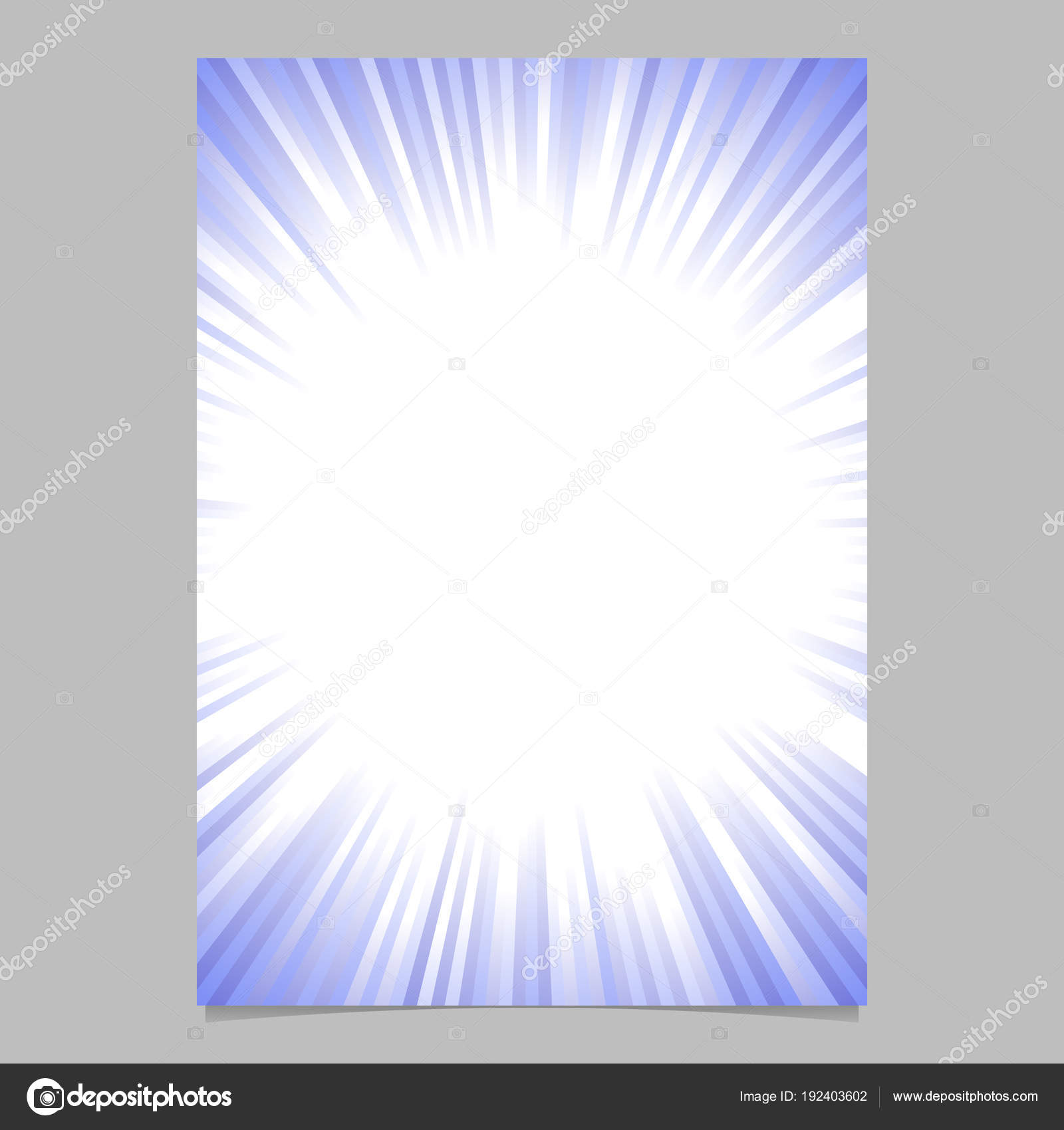 Geometric starburst card template - gradient vector brochure ...