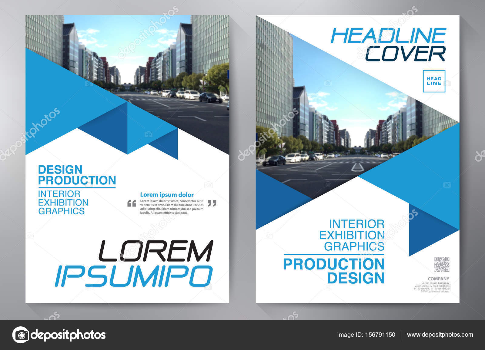 Business brochure flyer design a4 template  — Stock Vector