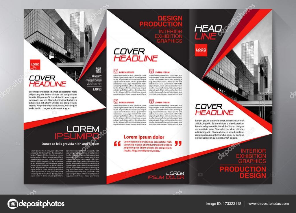Folleto 3 doble plantilla de flyer diseño a4 — Archivo Imágenes ...