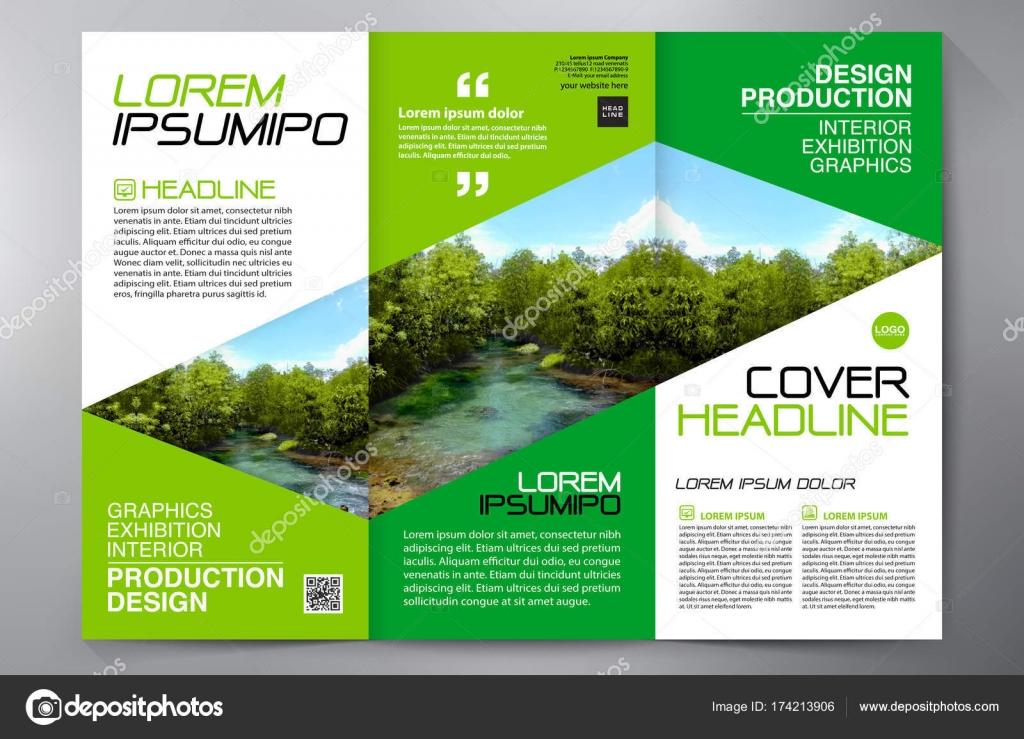 Brochure 3 Fold Flyer Design A4 Template Stock Vector