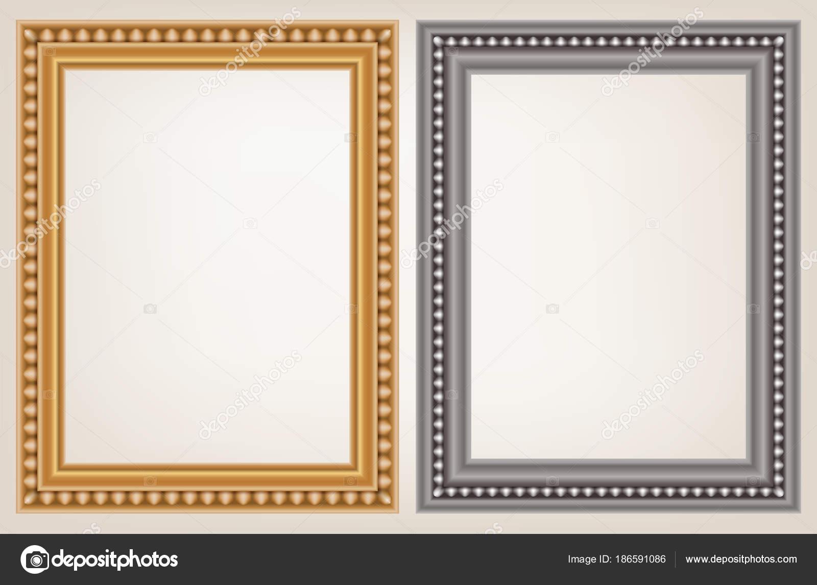 conjunto de marco de madera vintage — Vector de stock © enterphoto ...