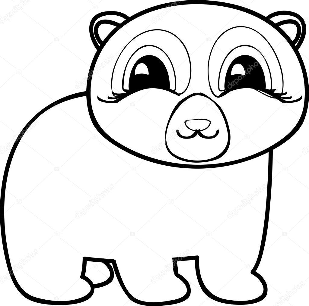 Página para colorear del oso. Recuperar la imagen dentro del ...