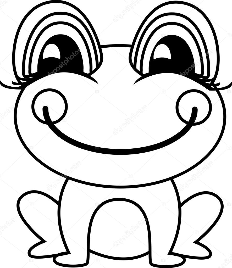 Simple ilustración de vector de rana o Sapo — Vector de stock ...
