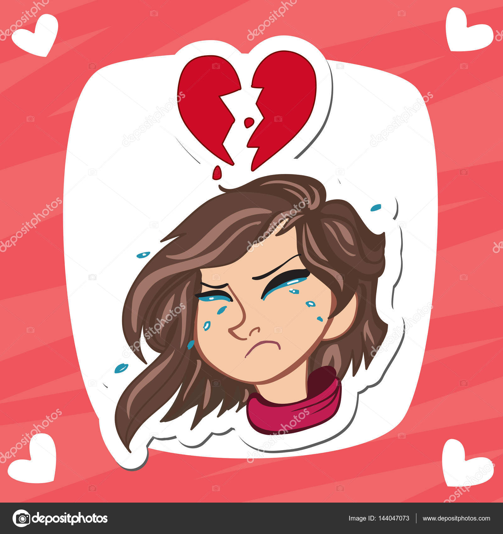 Zeny Zlomene Srdce S Placem Vyraz A Srdce Zlomil Jako Pozadi S