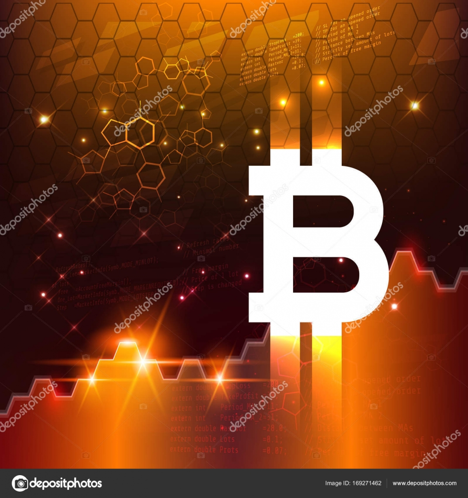 Virtual symbol of the coin bitcoin crypto currency stock abstract business chart with bitcoin sign and numbers in stock market on gradient gold color background vector by direnkokatti biocorpaavc Images