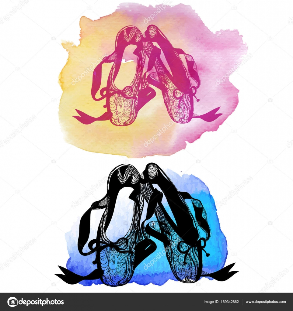 the symbol of ballet dance ballet shoes � stock vector