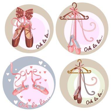 Ballet dance studio symbol - vector illustration. eps 10