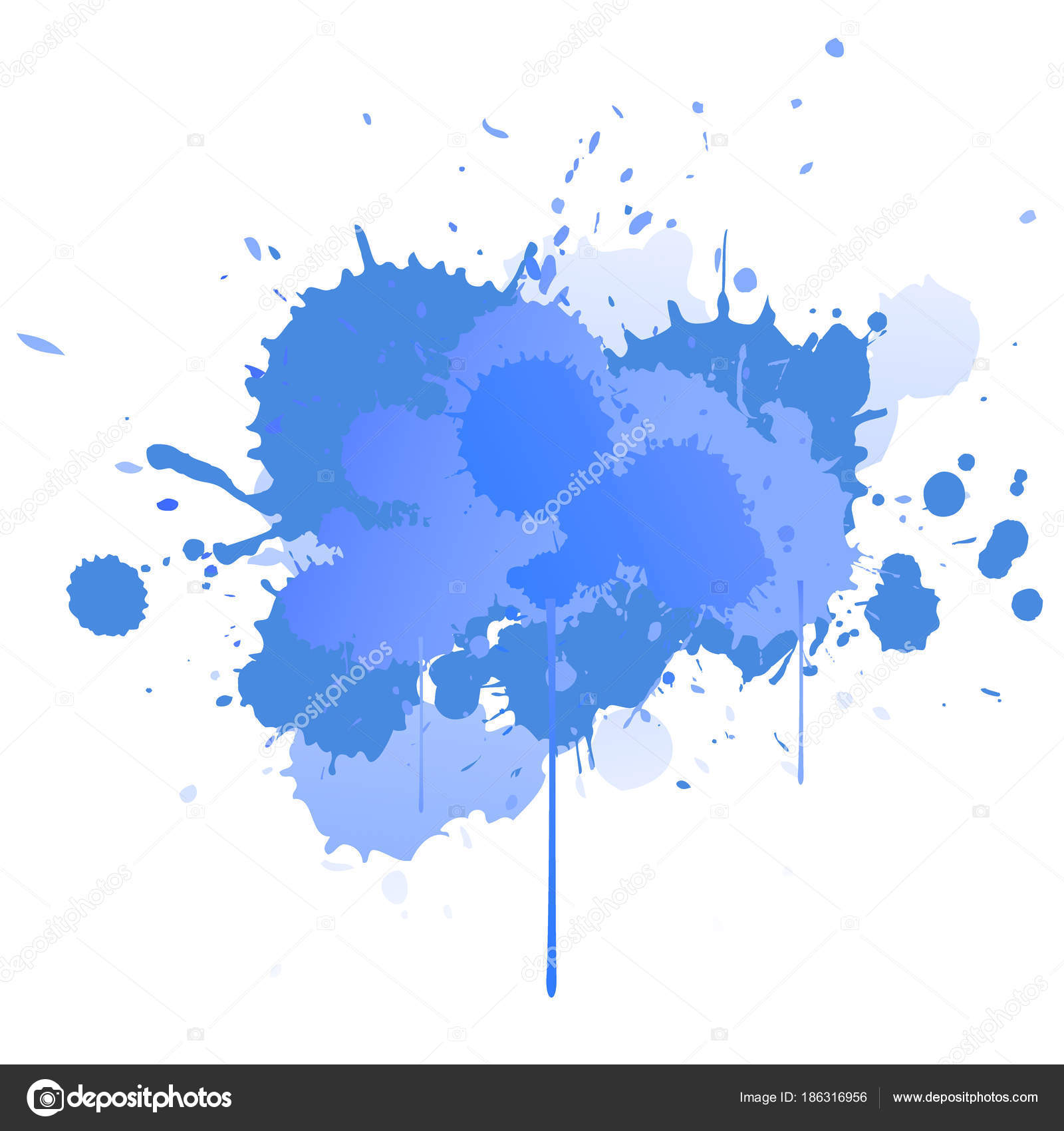 Abstract Vector Splatter Background Colorful Ink Spots