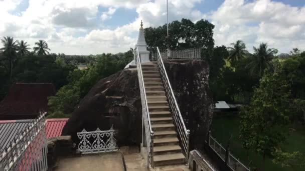 Anuradhapura, Srí Lanka, kilátás erkélyről lépcsőre