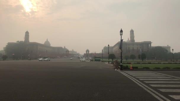 New Delhi, India, November 11, 2019, was able to tighten the street of Indias capital