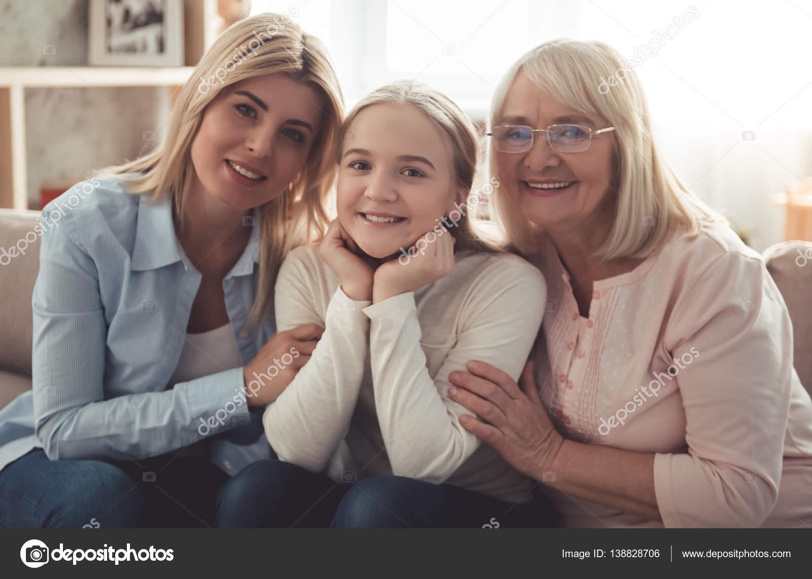 и дочь бабушка и мать