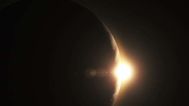 Jupiter s krásný východ slunce