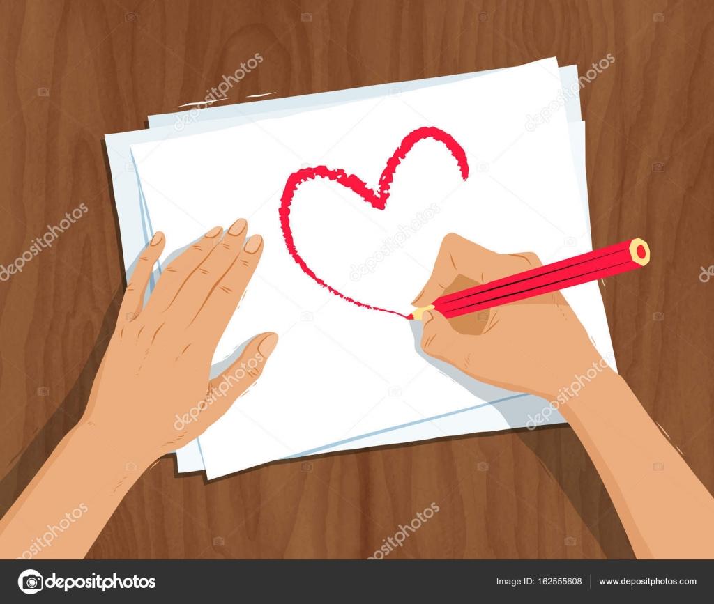 Hande Zeichnen Herzform Stockvektor C Sonya Illustration 162555608