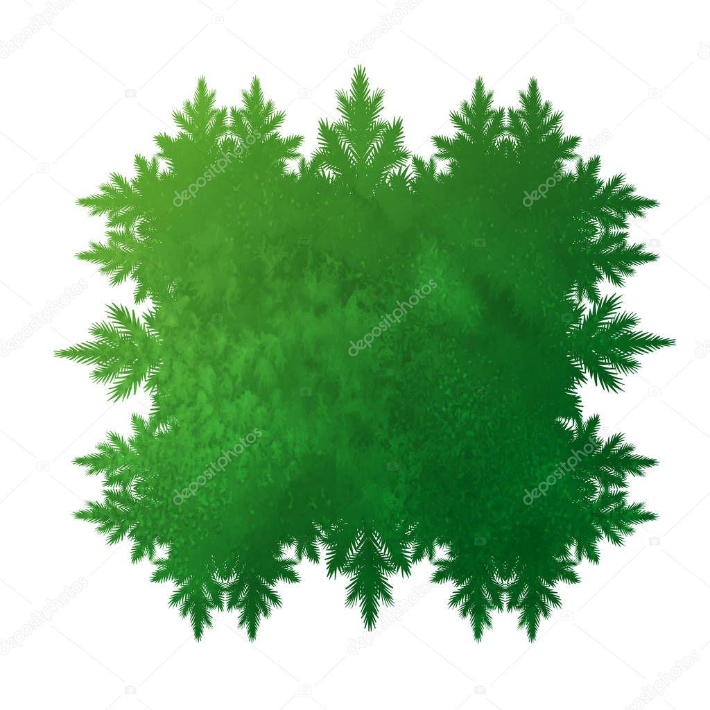 grunge green forest kaleidoscope frame