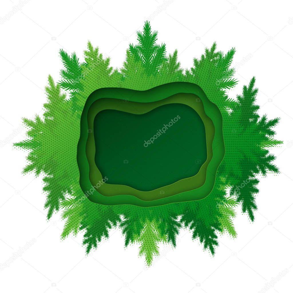 Vector kaleidoscope forest frame